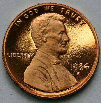 1984 S Lincoln Memorial Cent Gem DCAM Proof Penny US Coin