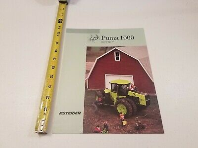 STEIGER PUMA 1000 Tractor Dealer's Brochure AMIL9 - $13.49 ... on
