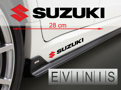 SUZUKI 2x Side Stickers LEFT and RIGHT Car Decals Graphic DEFAULT RED/BLACK