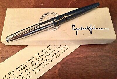 Used By President Johnson 1960s Era Silver Cap White House Bill Signing Pen