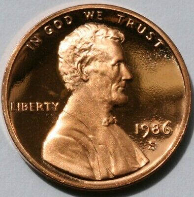1986 S Lincoln Memorial Cent Gem DCAM Proof Penny US Coin