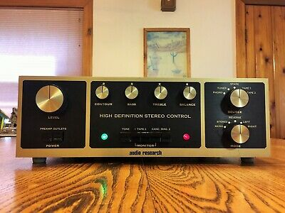 Audio Research SP-3A-1 Stereo Tube Preamp with phono Black and Gold! Beautiful!