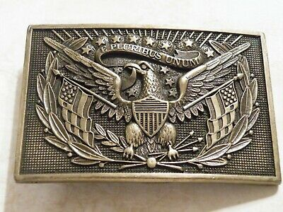 Vintage AMERICAN EAGLE BRASS BELT BUCKLE Patriotic AWARD DESIGNS METAL