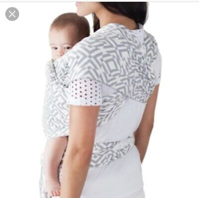 Moby Wrap Baby Carrier Gray Chevron