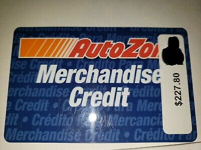 Auto Zone Gift Card - $227.80 - In Store Only