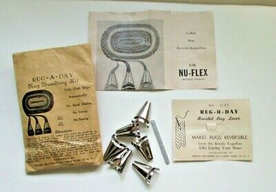 Antique Rug Braiding Kit,Rug-A-Day, Directions & Hardware (6 Folders) No sewing!