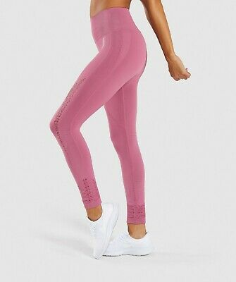 d1cb51ce79299 GYMSHARK VITAL SEAMLESS Leggings - Dusky Pink Marl Small Gym Pants ...