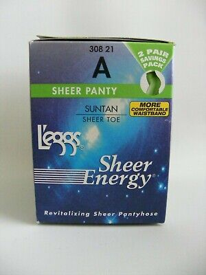 9f0e485f2 Leggs Sheer Energy Pantyhose Medium Support Leg Size A Suntan Sheer Toe