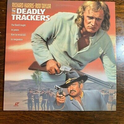 Laser Disc ~ DEADLY TRACKERS ~ Richard Harris ~ Rod Taylor