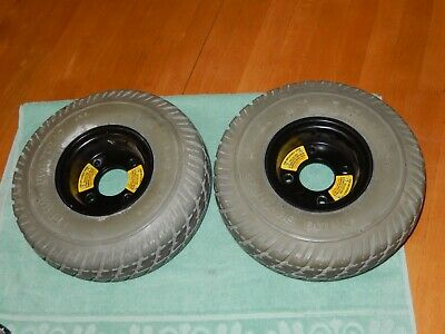 Pair Wheels / Tires 3.00-4 Jazzy Select GT Power Wheelchair Drive Wheels