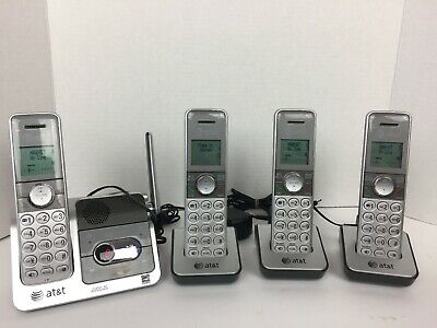 AT&T CL82401 Set Of 4 Cordless Phones Handsets Caller ID Announce Answering EUC