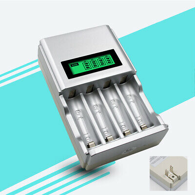 4Bay LCD Smart AA/AAA Rechargeable Batteries Charger - CA