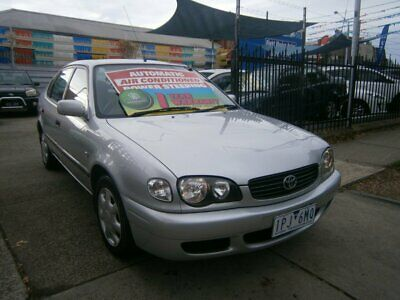 2001 Toyota Corolla ZZE122R Ascent Seca Silver Automatic 4sp A Hatchback