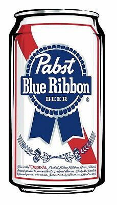 PBR: PABST BLUE RIBBON BEER: Vinyl Sticker 3x5.  BUY 2 Get 1 FREE!