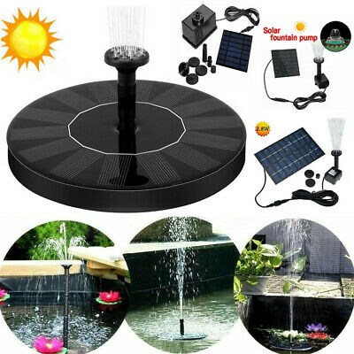 Solar Power Fountain Garden Pond Water Feature Pump Kit Panel Submersible Pump