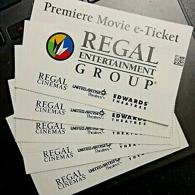 Regal Premiere Movie e-Tickets, Any Movie, Any Time, Fast Email Delivery