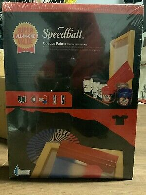 Speedball All in one opaque Fabric screen printing Kit - Model 4519 Unopened