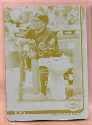 Joey Votto 2019 Topps Series 1 Yellow Printing Plate #'d 1/1 Reds