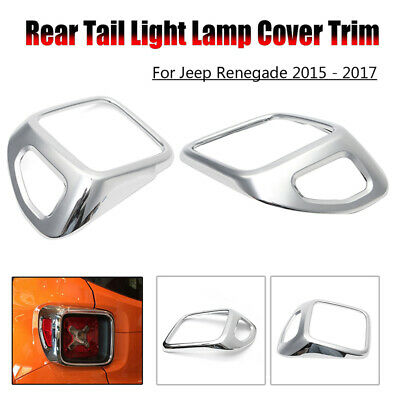 ABS Tail Rear Light Trim Covers Decorative Frame For Jeep Freelancers From 15-17