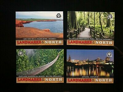 2018-19 OPC Coast To Coast Canadian Tire Landmarks Of the North 4 Card Lot