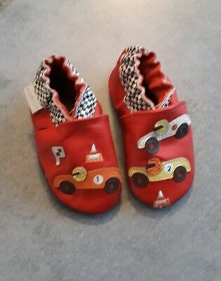 7efa8566b819f chaussons chaussures CUIR bebe garcon 18 ROBEEZ