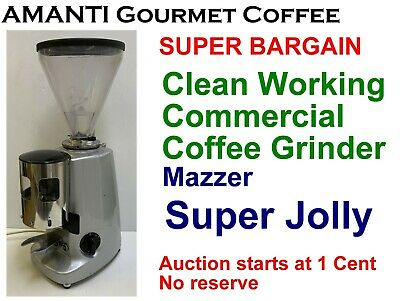 BARGAIN Clean Working Mazzer Commercial Super Jolly Coffee Grinder +Bonus AMANTI