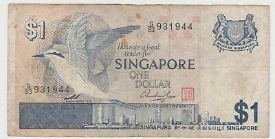 (N31-27) 1973 Singapore one dollar bank note (AB)
