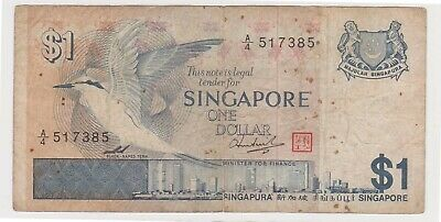 (N31-22) 1976 Singapore one dollar bank note (V)