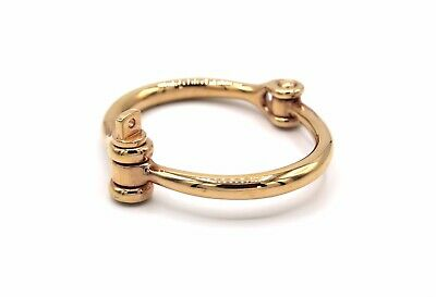 658b6424a61a3 MIANSAI YELLOW GOLD Plated Side Cuff Bracelet Hinged With Screw Down ...
