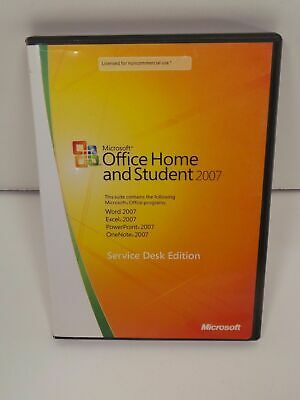 Microsoft Office Home and Student 2007 ENGLISH Service Desk Edition + KEY