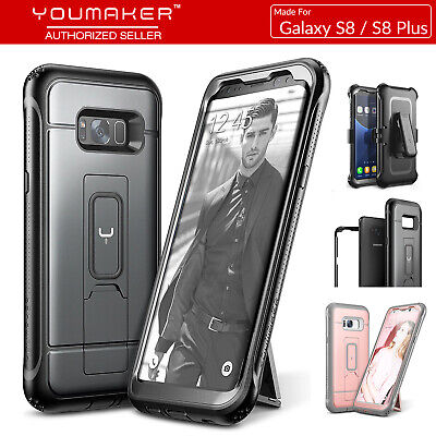 YOUMAKER® Samsung Galaxy S8 S8+ Plus HEAVY DUTY Shockproof KickStand Case Cover