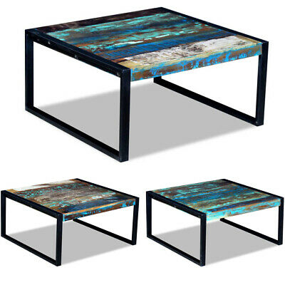 vidaXL Coffee Table Desk Stand Solid Reclaimed Recycled Wood 80x80x40 cm Living Room