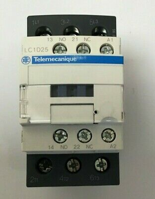 LC1D25P7 TELEMECANIQUE CONTACTOR 11kw 15hp 25a 3 PHASE 3 POLE 230v COIL (S283)