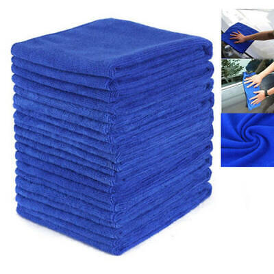 50 X Microfiber Cleaning Cloth Blue Towel Set For Car Polishing Auto Detailing