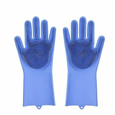 Magic Silicone Dish Washing Kitchen Cleaning Sponge Scrubber Gloves Bristles