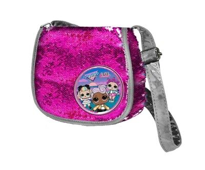 Borsa Tracolla LOL Surprise con Paillettes Reversibili Colore Fucsia