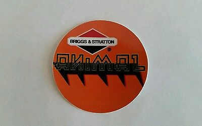 Quantity of 2 reproduction briggs & stratton kart racing animal recoil decals.