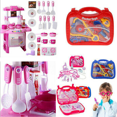 Role Play Electronic Children Kids Kitchen Cooking Girl Toy Cooker Doctor Nurse