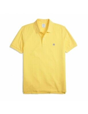 Polo Brooks Brothers 100% Cotone Giallo Slim Fit