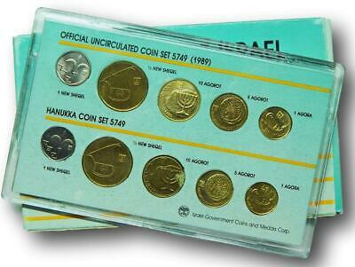 5749 (1989) Israel official uncirculated coin set 10 coins Hanukka coin set unc