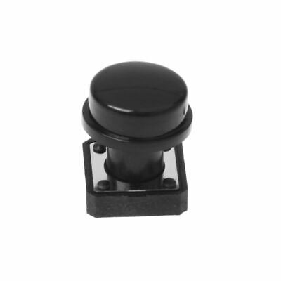 10pcs Momentary Tact Tactile Push Button Switch 12x12x12mm 4 Pin w Cap R1K4