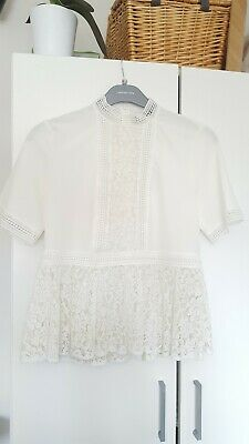 e38cd700c6b9 ZARA WOMEN White Lace Romantic Blouse VInted Crochet TOP size S