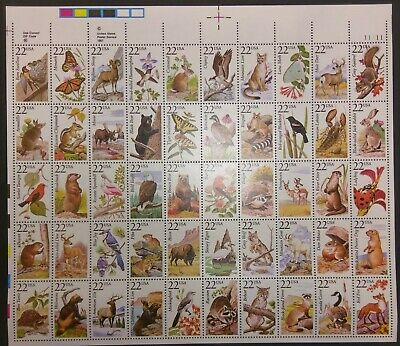 US 20¢ State Wildlife Sheet Scott #2286-2335 1987 See Scan MNH
