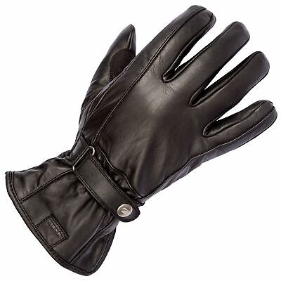 Spada Freeride Leather Motorcycle Gloves Black Touring Armoured Waterproof