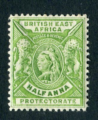 British East Africa/KUT 1896. 1/2a yellow green. MLH. SG 65.