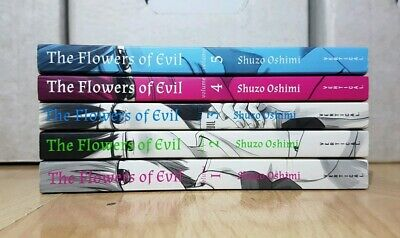 THE FLOWERS OF EVIL 1-5 Manga Collection Complete Run Volumes Set ENGLISH RARE