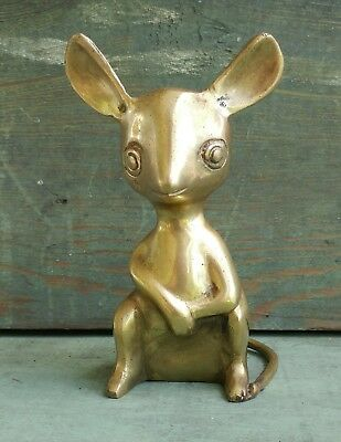 Brass Mouse Chinese Zodiac Year Rat Paperweight Metalware Decorative India
