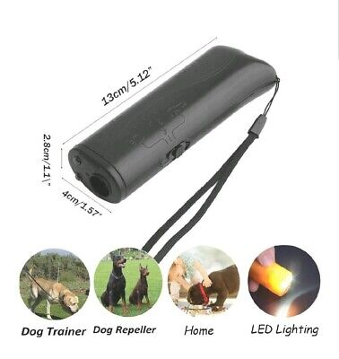 Stop Dog Barking Ultrasonic Anti Bark Control Device Outdoor Silencer Trainer