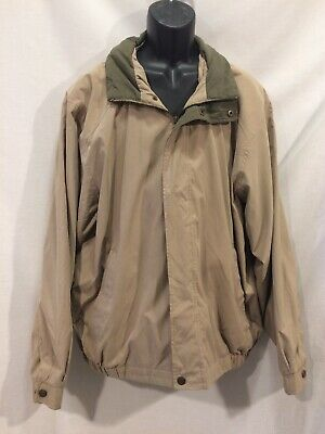 1a29aeec7 ROUNDTREE & YORKE Outdoors Men's Full Zipper Jacket Size XL Beige Hidden  Hood