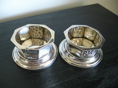 Pair Houghton Perkins Sterling Silver Open Salts